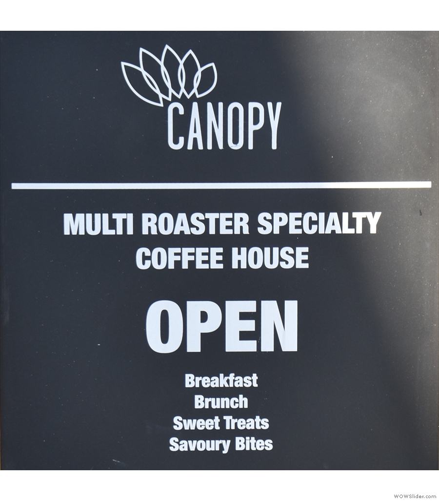 Canopy Coffee in my hometown of Guildford, reinventing itself as a takeaway operation.