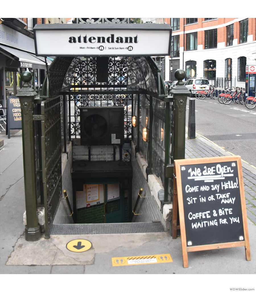 Back in the UK, and to Attendant Fitzrovia. Is an underground toilet a basement though?