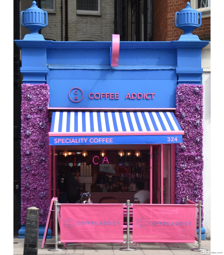 Returning to London, Coffee Addict is around the corner from Victoria station.