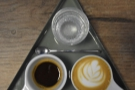 Let's start at Mythical Coffee, with a lovely, subtle, fruity, smooth Ethiopian espresso.