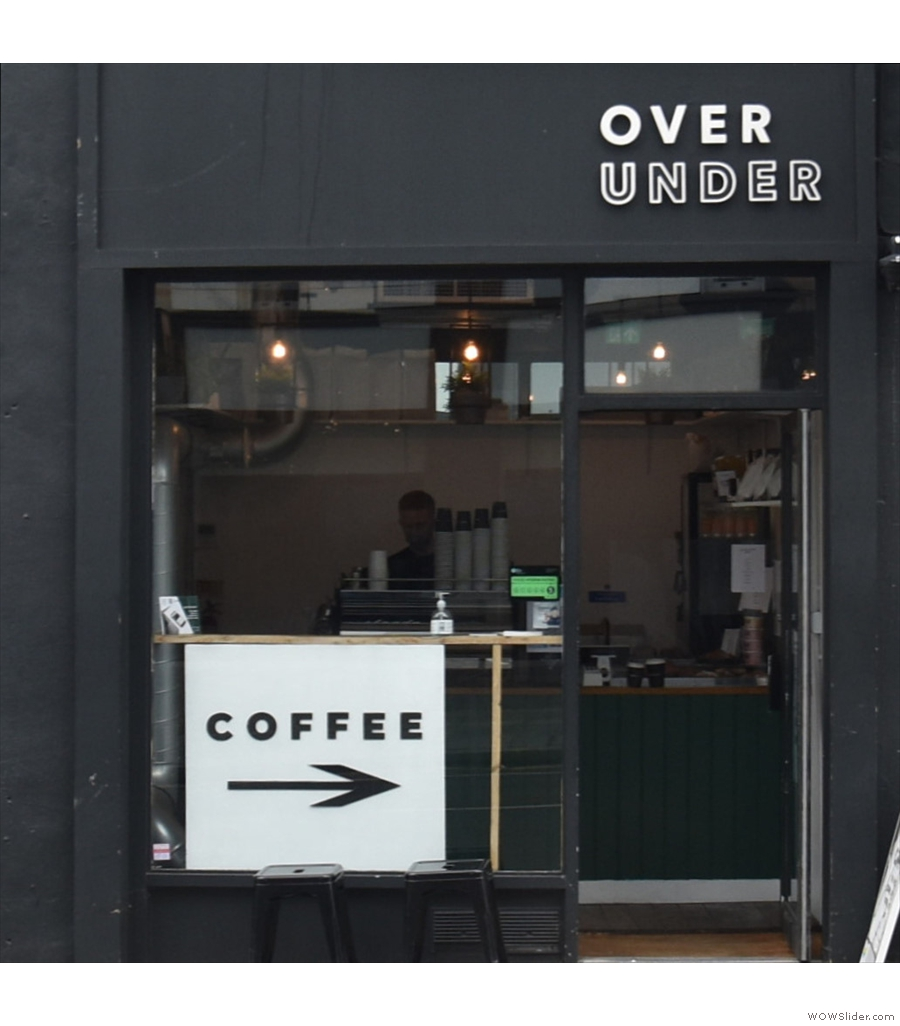 Over Under Coffee, West Brompton, a coffee cube if ever there was one.
