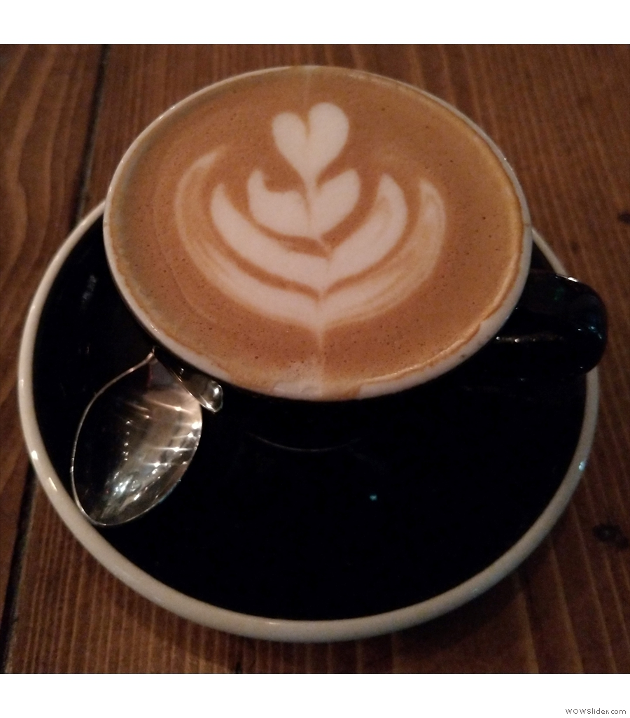 And finally, Caravan Exmouth Market, with another decaf flat white.