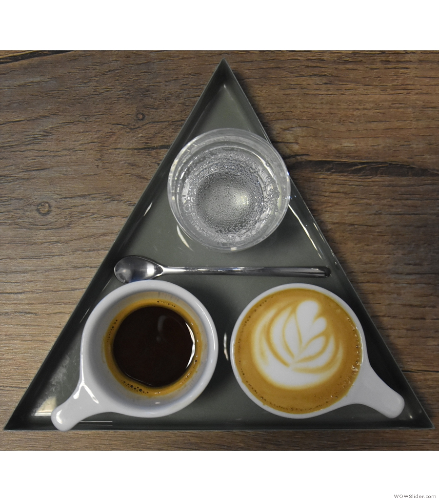 Our first entry is from Mythical Coffee, with one half of a one-and-one...