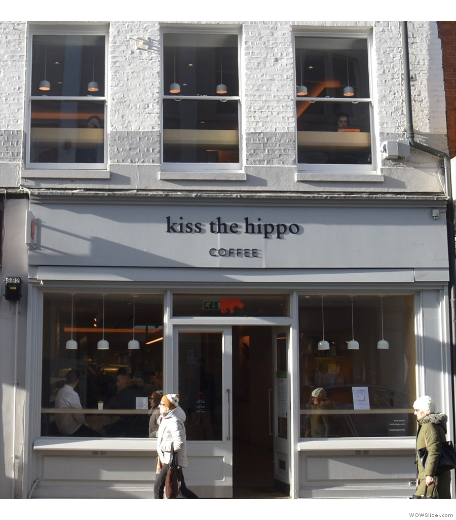 Kiss the Hippo, Richmond, spread over two floors, with a lovely upstairs space.