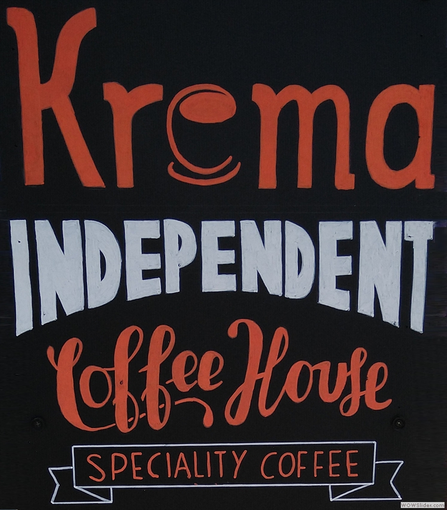One constant, other than the coffee, is the cheery welcome from the Krema Coffee staff.