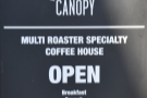 Canopy Coffee, making the transition from sit-in coffee shop to takeaway only.