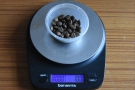 ... and some scales to weight out the coffee. This is the washed coffee...