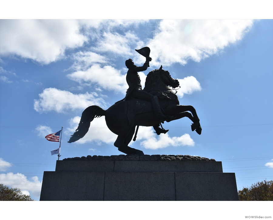 ... statue of Andrew Jackson (7th President of the USA) in the middle.