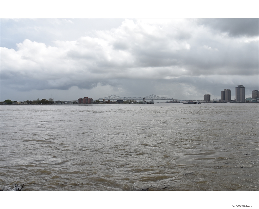 ... the Crescent City Connection, linking New Orleans with the other side of the Mississippi.