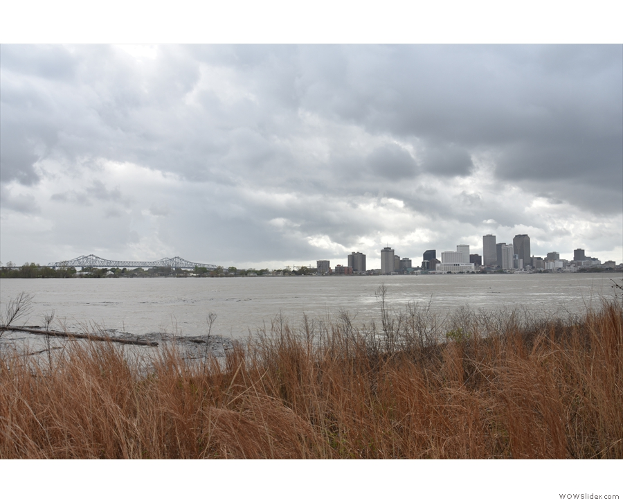... affording more views of the mighty Mississippi and the Central Business District.