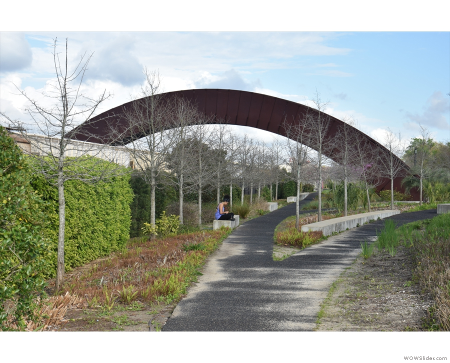 This marked the end of the park for me, a weird, curved bridge...