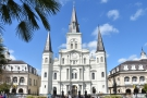 ... with the magnificent St Louis Cathedral as a backdrop and a...
