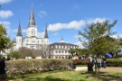 Right in the heart of the French Quarter is Jackson Square, a formal park...