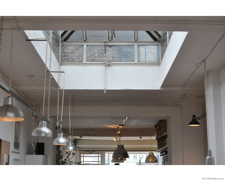 The skylights make the back a light and airy place.
