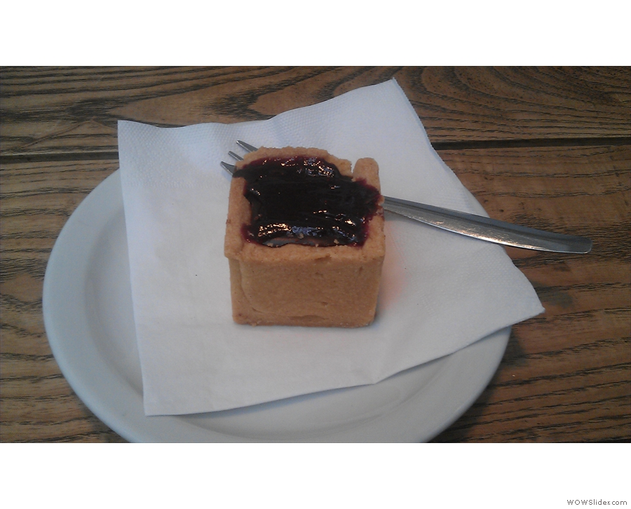 ... and the shortbread chocolate cube.