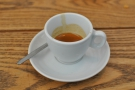 My espresso, from the first visit...