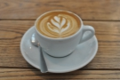 My flat white, complete with art, also from the first visit...