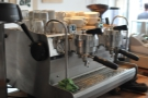 A sneaky view of the back of the espresso machine