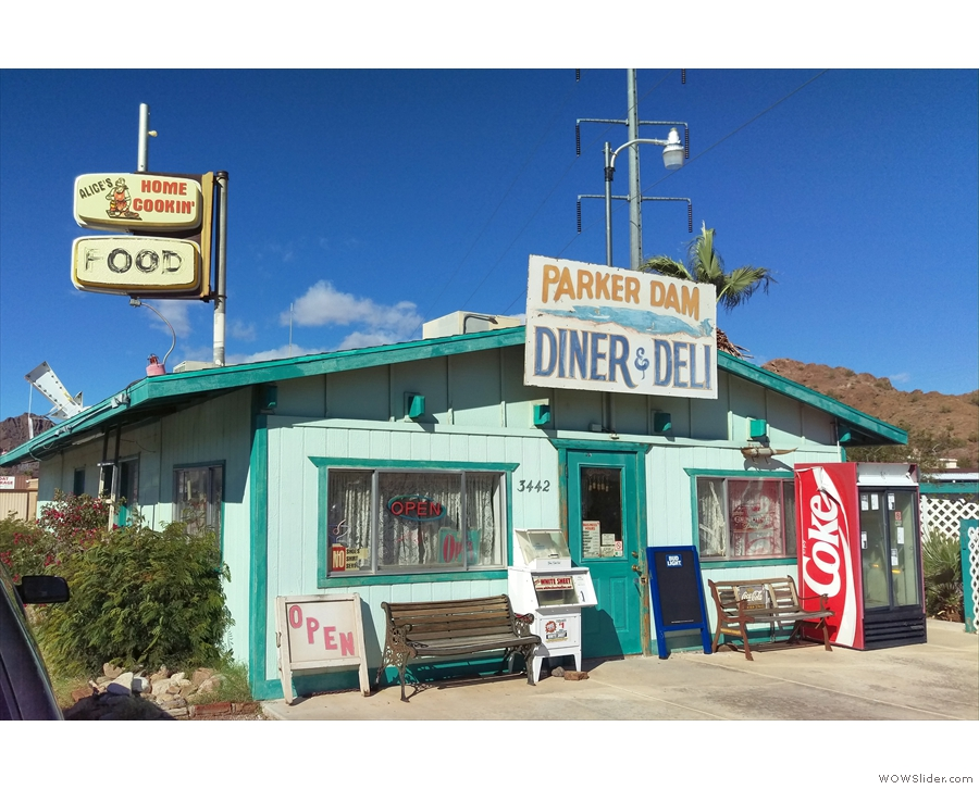 By now it was definitely lunch-time (1.30) so I stopped at this little diner.