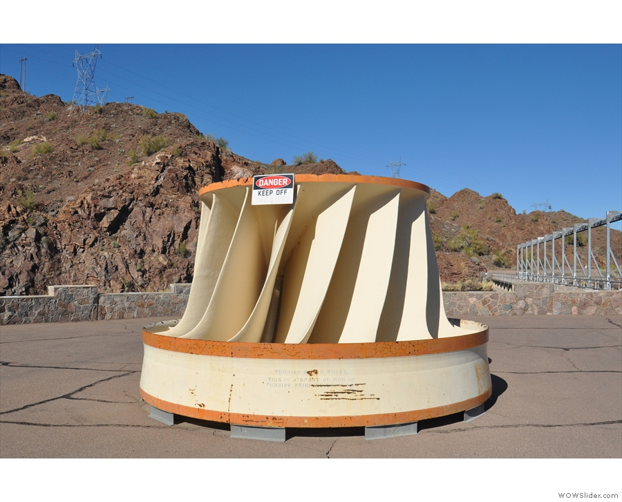 I'll leave you with one of the dam's spare turbines. For scale, it's about 6m tall!