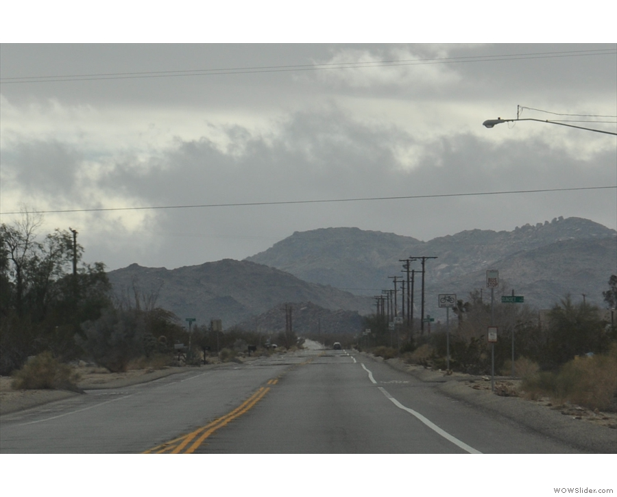 ... into Joshua Tree National Park, with the distant mountains as my backdrop.