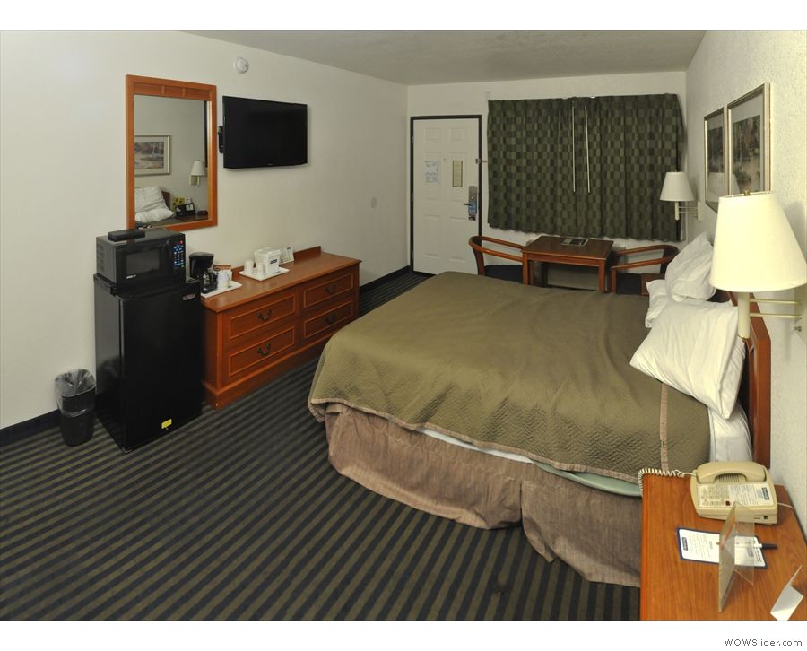 One thing in favour of American motel rooms: they are always really big!