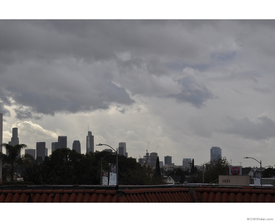 More views from the balcony, this time of downtown LA...