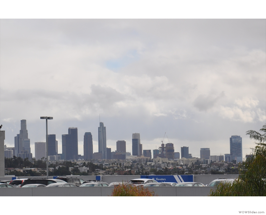 The view the other way reveals downtown LA. Then it was time to go get my car...