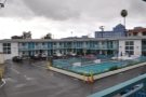 My motel, a Travelodge, on the morning of my one day in Los Angeles.