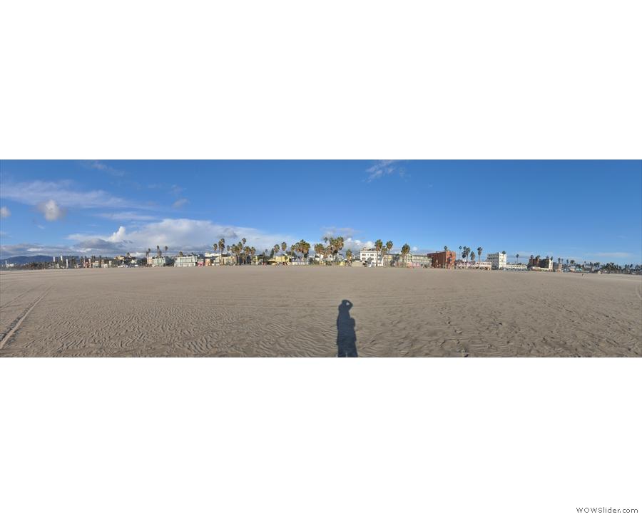 The famous Venice Beach Boardwalk area