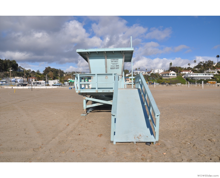 Something else that was closed: the iconic lifeguard huts.