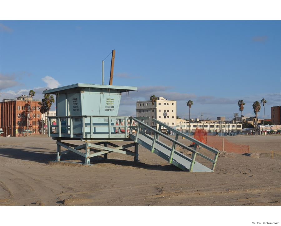And another lifeguard hut, closed up for the winter.