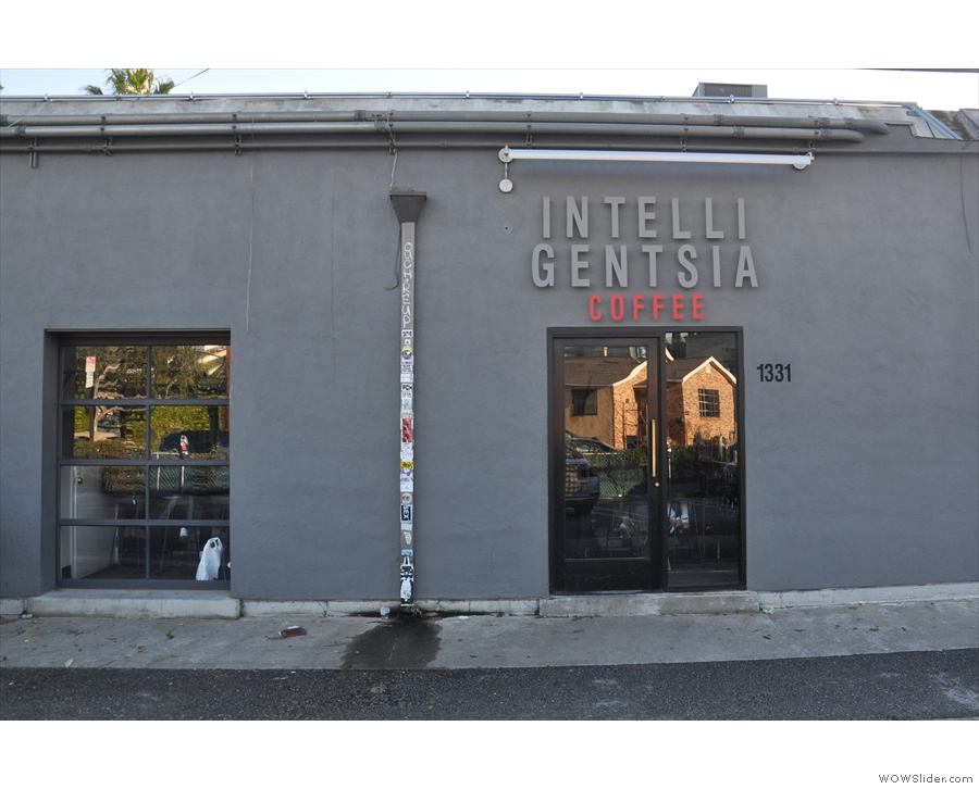 ... where Intelligentsia has a more obvious door.