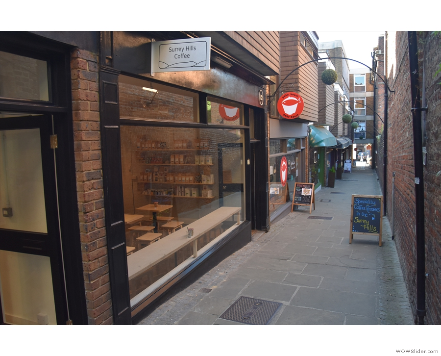 That year also saw Surrey Hills Coffee move to Jeffries Passage...