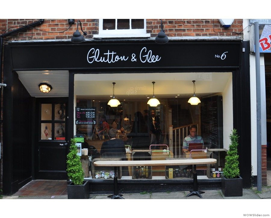 There was also Glutton & Glee on Tunsgate, a brunch spot that served Allpress espresso.