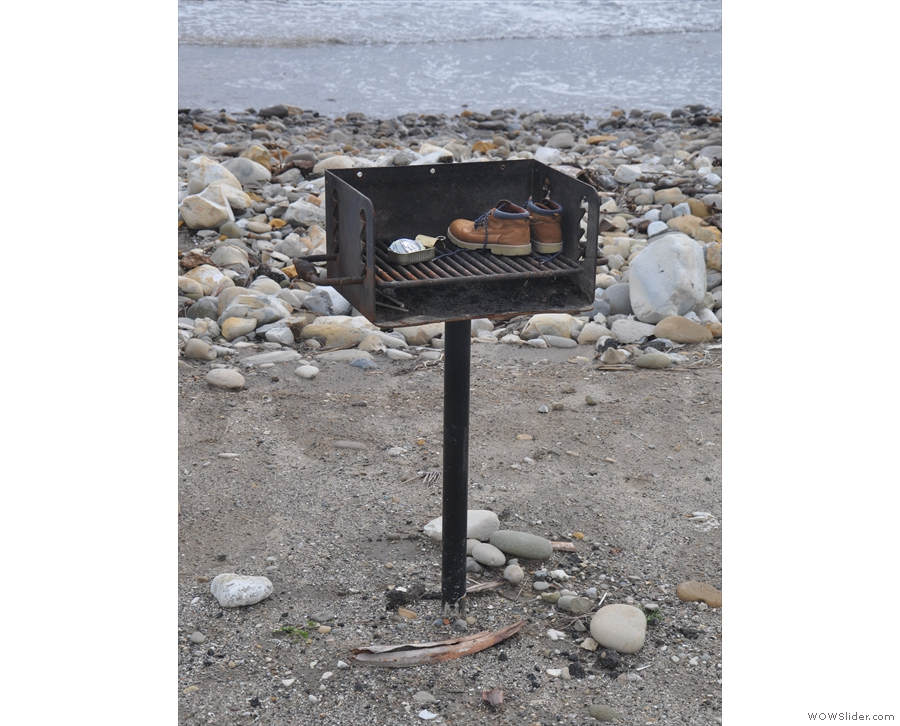 I'll leave you with this, an interesting use for a beach barbecue!