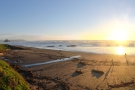 I'll leave you with a panorama of the bay as I pushed on, hoping to beat the sunset.