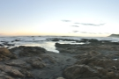 A panoramic sweep of the beach, looking out to sea...