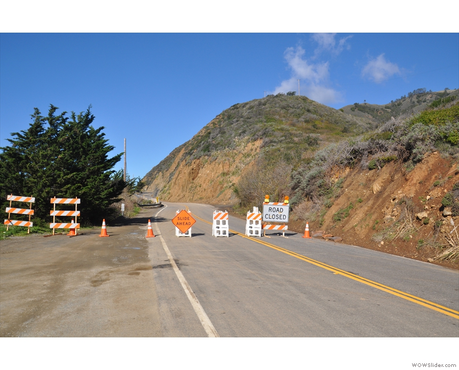 My progress into the Big Sur was abruptly halted.