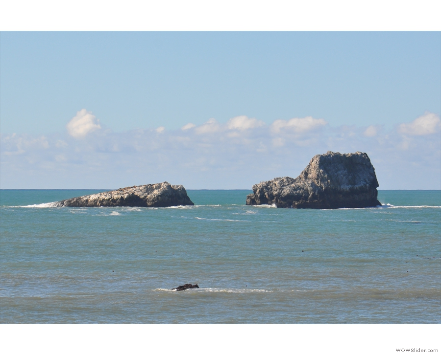 My eye was also drawn to the rocks just off the coast...