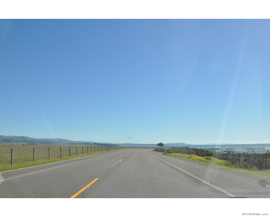 ... before I hit the road again (for all of ten minutes) on my way to Hearst Castle.