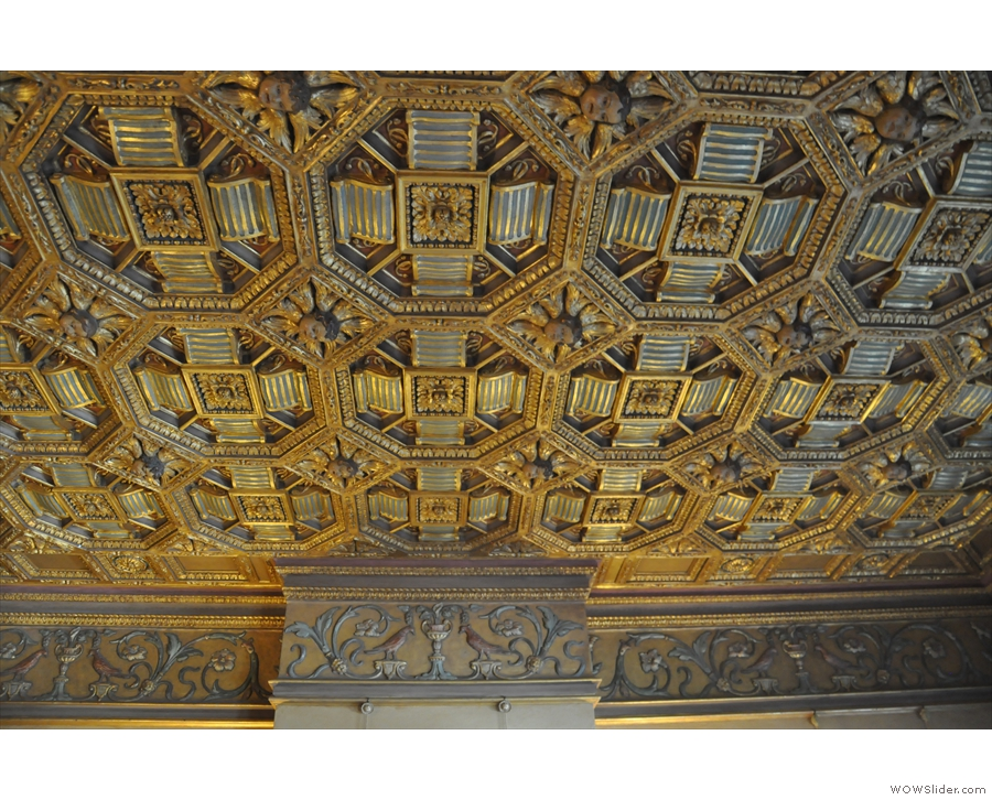 I couldn't leave without a look at the ceilings...