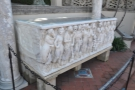 This stone sarcophagus is, I believe, a genuine Roman antique.