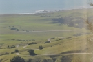 That's a great view of the road as it climbs up the hill towards Hearst Castle.