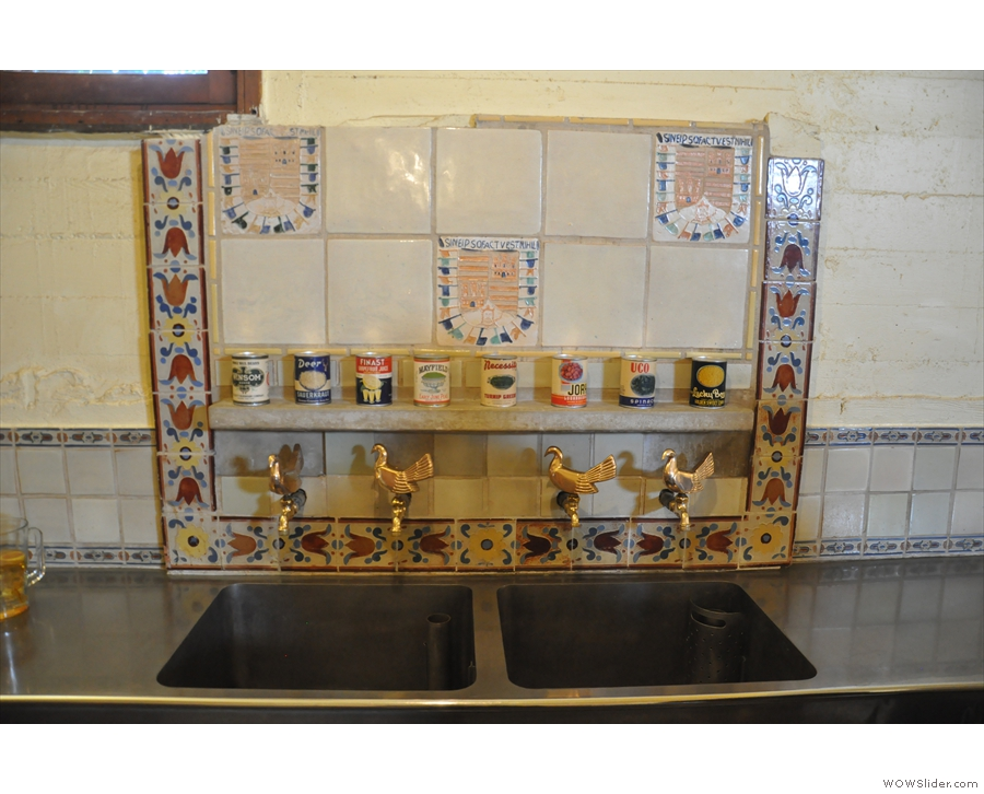 The kitchens are very functional, but some of the detail, like this tiling, is lovely.