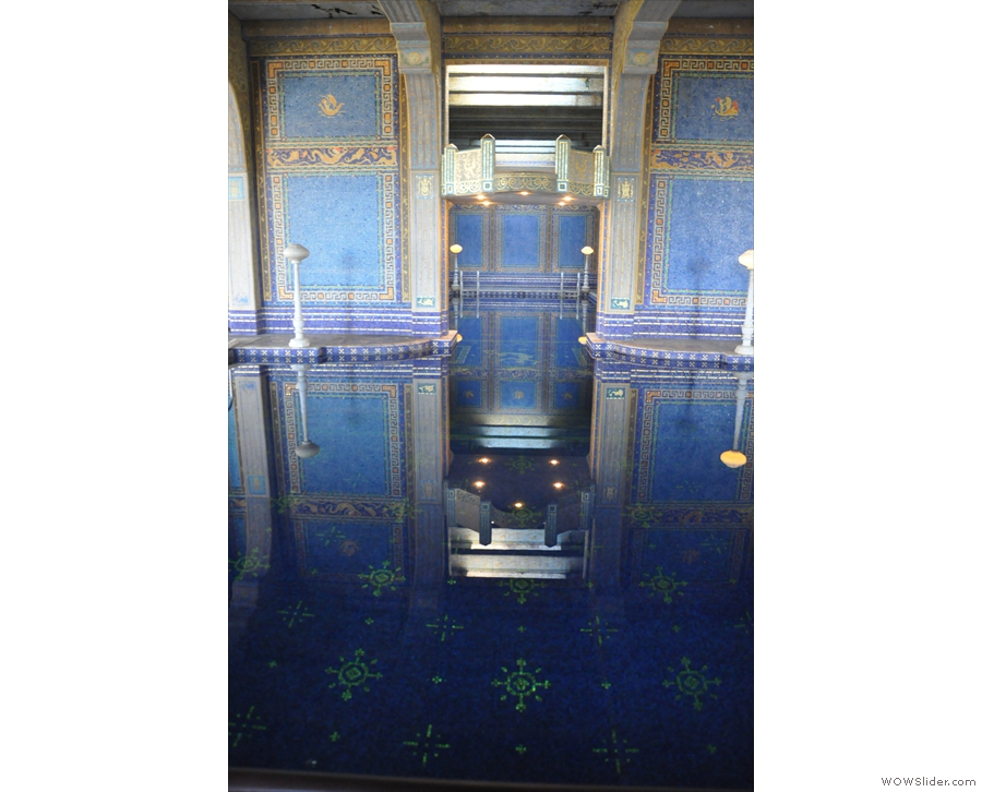 ... which extends to the floor of the pool.