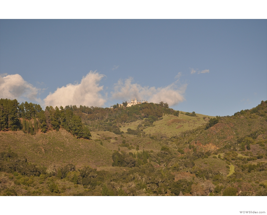 A final (distant) view of Hearst Castle.