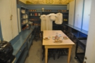 The kitchen staff had their own quarters where they could eat.