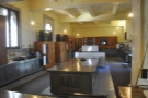 A view from the opposite end, giving you a feel for the full size of the kitchens.