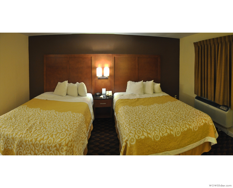 I think two beds for just me is overkill, but that's American hotels for you.